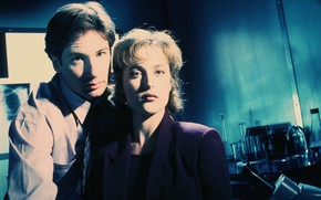 Картинка The X-Files, Дэвид Духовны, Секретные материалы, Джиллиан Андерсон, Дана Скалли, Фокс Малдер