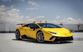 Картинка Lamborghini, Yellow, Performante, Huracan, Sight