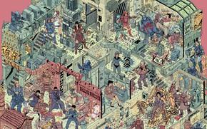 Картинка Рисунок, Стиль, Бой, Хищник, Битва, Самурай, Fantasy, Art, Nova, Атака, Blade, Зена, StarCraft, Самураи, Эллен …