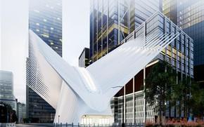 Картинка город, здания, сооружение, архитектура, Oculus Station NY