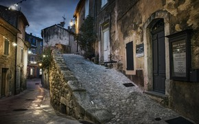 Картинка Provence, Menerbes at dusk, southern France