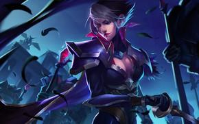 Картинка девушка, арт, Fiora, League Of Legends