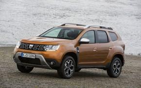 Картинка Renault, на берегу, кроссовер, SUV, Duster, Dacia