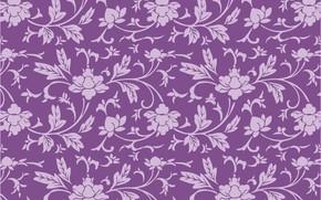 Картинка цветы, фон, узор, Purple, Wallpaper, Background, Floral