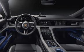 Картинка Porsche, салон, Turbo, 2020, Taycan