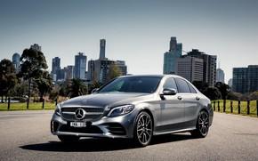 Обои Mercedes, седан, мерседес, AMG, C-class, W205