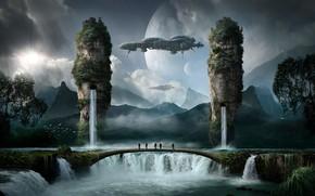 Картинка пейзаж, природа, водопады