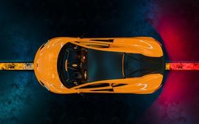 Картинка McLaren, суперкар, вид сверху, 570S
