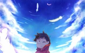 Картинка небо, мальчик, Osomatsu-San