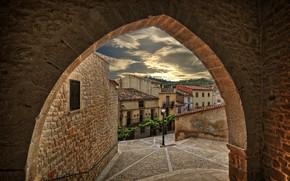 Картинка город, улица, арка, Испания, Spain, Aragón, Teruel, Calaceite