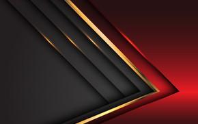 Картинка линии, красный, серый, фон, золотой, background