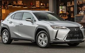 Картинка машина, фары, Lexus, Лексус, сбоку, кузов, Lexus UX, серая машина, Lexus UX200, колса