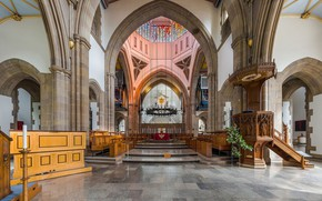 Картинка интерьер, собор, Великобритания, Pilgrim, Lancashire, Sanctuary, Ланкашир, Diliff, Blackburn, Blackburn Cathedral, Блэкберн