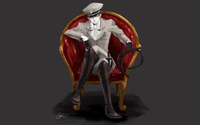 Картинка кресло, арт, Атака Титанов, Shingeki No Kyojin, капрал Леви, Леви