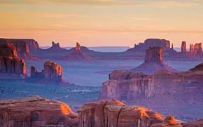 Картинка панорама, Аризона, Юта, США, Долина Монументов