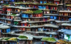 Картинка домики, Иран, трущобы, Sar Aqa Seyyed