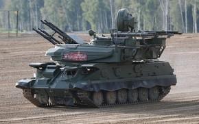 Картинка полигон, стрельбы, ПВО, Шилка, демонстрация, армия России, Forum «ARMY 2018», ЗСУ-23-4M4