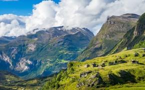 Картинка горы, Норвегия, Гейрангер