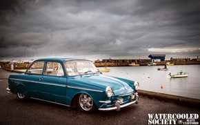 Картинка Volkswagen, Car, Blue, Old, Notchback
