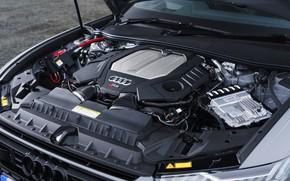 Картинка Audi, универсал, RS 6, под капотом, 2020, 2019, V8 Twin-Turbo, RS6 Avant, UK-version