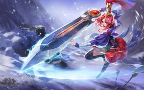 Картинка девушка, движение, игра, меч, King of Glory