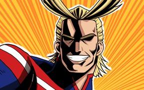 Картинка герой, Всемогущий, My Hero Academia, Boku No Hero Academia, Моя Геройская Академия