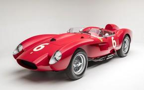 Картинка Ferrari, Classic, 1957, Scuderia Ferrari, 24 Hours of Le Mans, 24 часа Ле-Мана, Classic car, …