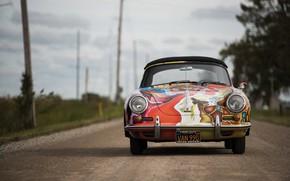 Картинка porsche, 1964, 356, cabriolet, by janis jopli, art car