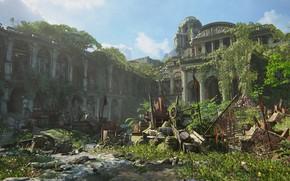 Картинка сражение, Naughty Dog, Playstation 4, Uncharted 4: A Thief's End, баррикады, Либерталия