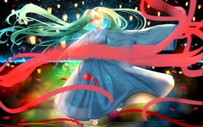 Картинка девушка, Hatsune Miku, Vocaloid, Вокалоид, Хатсуне Мику, хвостики