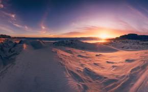 Картинка песок, пляж, закат, побережье, дюны, Испания, Spain, Атлантический океан, Galicia, Atlantic Ocean, Галисия, Sanxenxo, Санхенхо, …