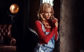 Картинка модель, Девушка, окно, прическа, Сергей Томашев, Катерина Ширяева
