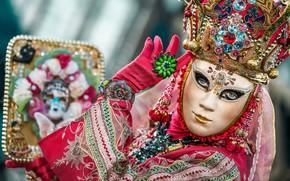 Картинка стиль, Италия, Венеция, маска, карнавал, костюм