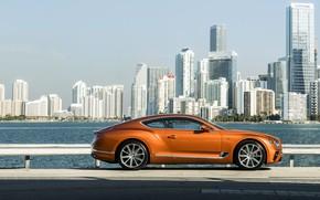Картинка купе, Bentley, набережная, 2019, Continental GT V8