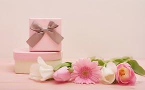 Картинка букет, подарки, день святого валентина