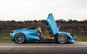Картинка McLaren, двери, суперкар, вид сбоку, Spider, 720S, 2019