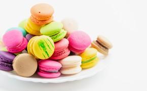 Картинка colorful, печенье, macaron, миндальное