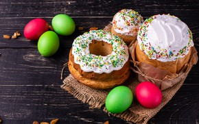 Картинка праздник, яйца, пасха, кулич