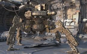 Картинка машина, оружие, конструкция, сталь, Штурмовой дроид