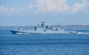 Картинка корабль, фрегат, черноморский флот, сторожевой, проект 11356, адмирал эссен