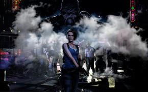 Картинка Игра, Пистолет, Улица, Автобус, Оружие, Zombie, Зомби, Game, Nemesis, Jill Valentine, Resident evil 3