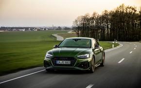 Картинка дорога, поле, движение, Audi, RS 5, 2020, RS5 Sportback