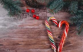 Картинка Рождество, конфеты, сладости, Новый год, ёлка, Happy New Year, Christmas, New Year, Happy Christma