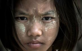 Картинка Мьянма, портрет, девочка