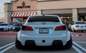 Картинка Авто, Белый, Lexus, Машина, Парковка, Lexus IS, Transport & Vehicles, by Hammad XIX, Hammad XIX, …