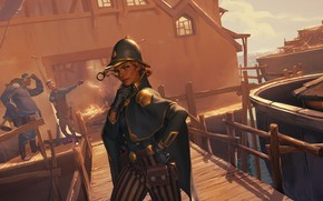 Картинка девушка, порт, Legends of Runeterra