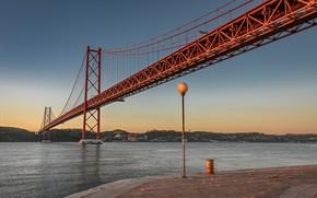 Картинка river, Lisbon, 25 April bridge