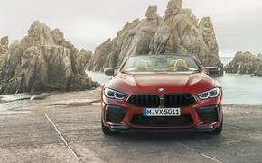 Картинка BMW, суперкар, вид спереди, Cabrio, Competition, 2019, BMW M8, F91