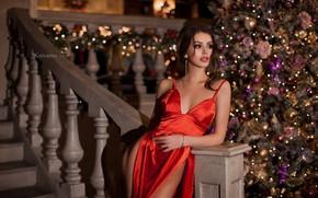 Картинка взгляд, Девушка, платье, прическа, бедра, Юлия Катурина, Олеся Кравченко