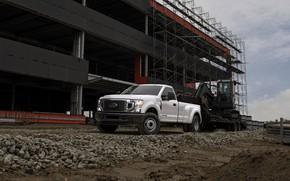 Картинка Ford, экскаватор, пикап, тягач, Super Duty, F-350, 2020, стройплощадка, 2019, F-series